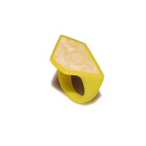 lime green FRAME Ring / size 16 - monopolka
