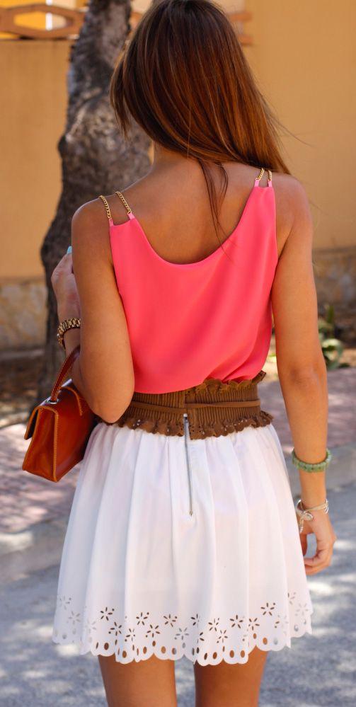 color/ scalloped skirt