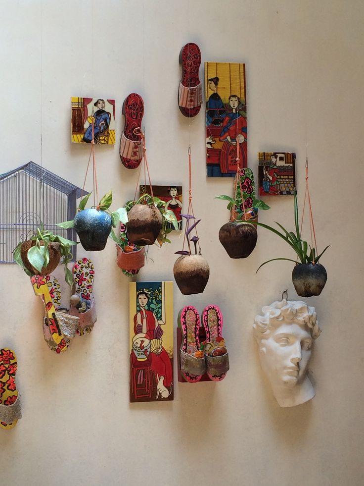 Display corner in an art shop, armenian street