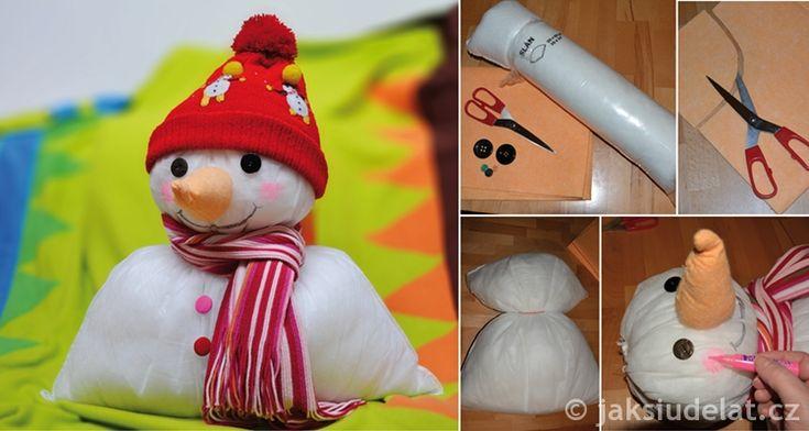 Skvělý+mazlík+pro+děti+–+polštářkový+sněhulák+za+pár+korun