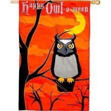 Happy Owl-O-Ween Applique  Halloween House Flag by Evergreen. Save 40 Off!. $11.99