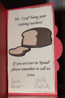 Visiting Teaching card