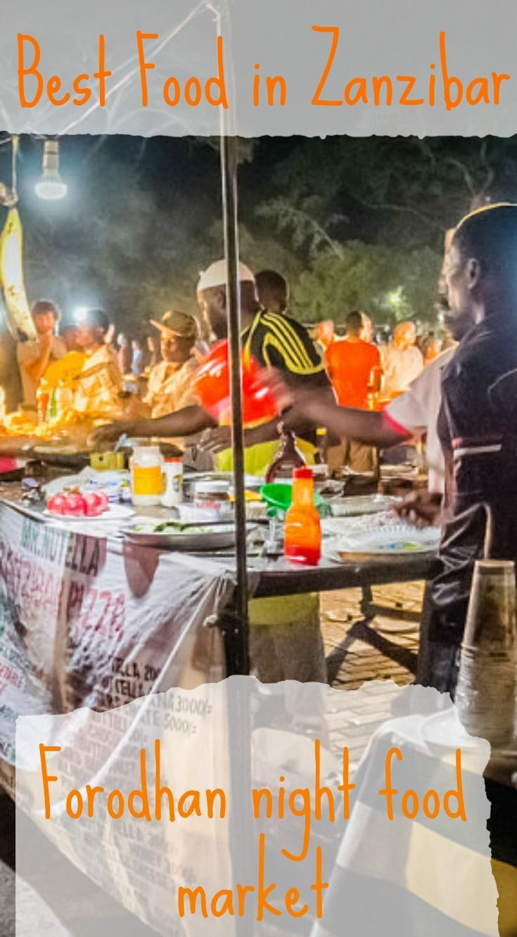 Stone Town Night Food Market Zanzibar. Once you're done enjoying the beaches on Nungwi, head back to Stone Town for a step back in history. Take to the streets during the day but be sure you don't miss the famous Stone Town Night food Market. Click to read the full travel blog post at http://www.divergenttravelers.com/flighthub-sustainable-tourism-zanzibar/
