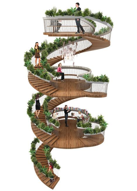 Paul Cocksedge designed The Living Staircase for Ampersand, a new office building in London's Soho dedicated to creative businesses.