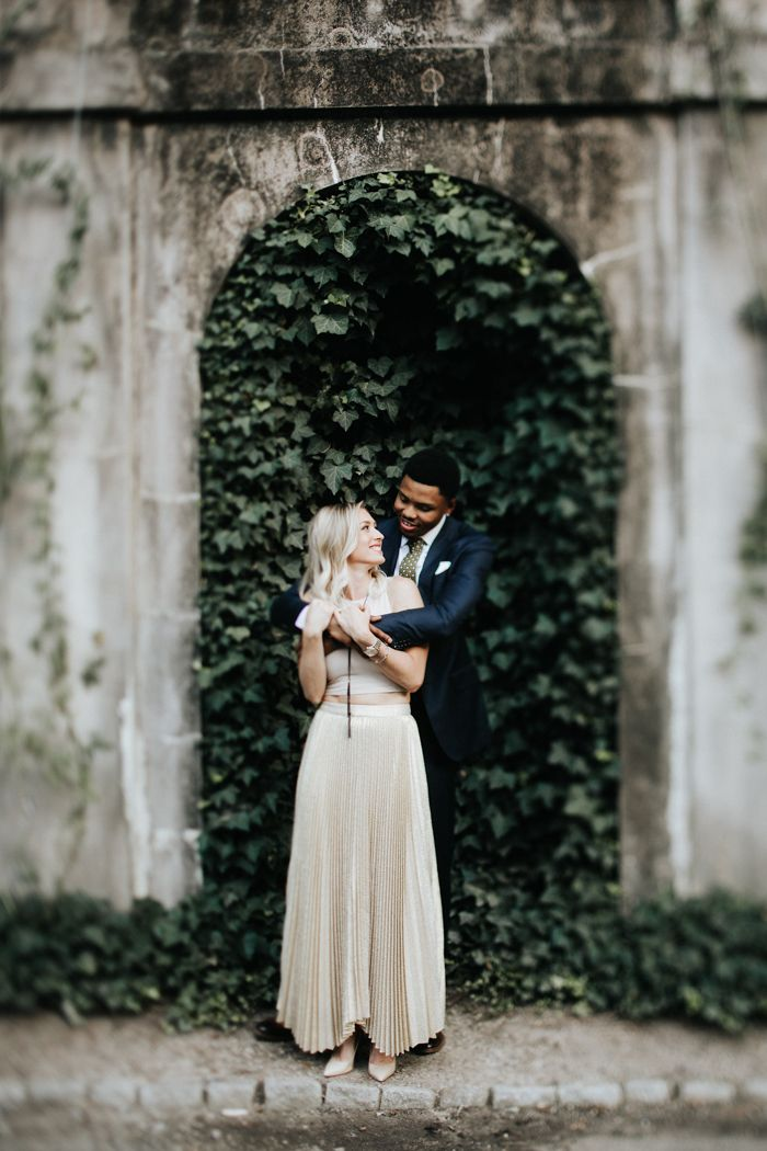 intimate wedding packages atlantga%0A Cool Glam Engagement Session at Atlanta u    s Swan House