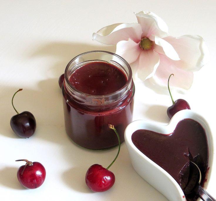 Rezepte mit Herz ♥: Kirschkonfitüre mit Chili, Schoki & Amaretto