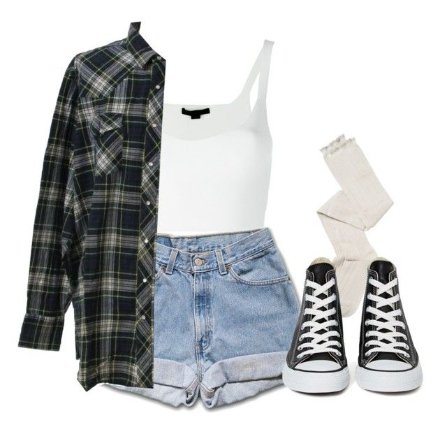 Converse by feathersandroses on Polyvore featuring polyvore fashion style Alexander Wang Intimately Free People Converse Wrangler clothing