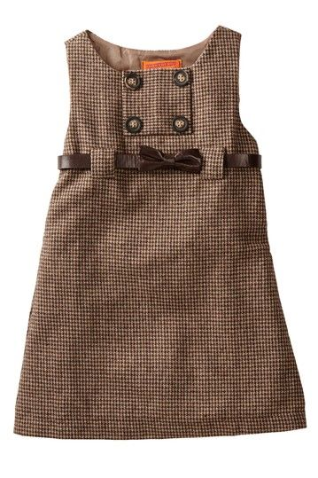 Belted Houndstooth Dress (Toddler, Little Girls, & Big Girls) by Funkyberry on @HauteLook