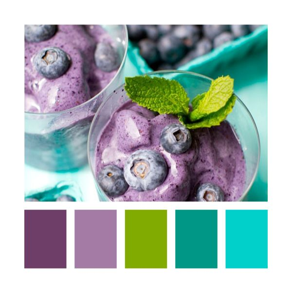 blueberry and mint