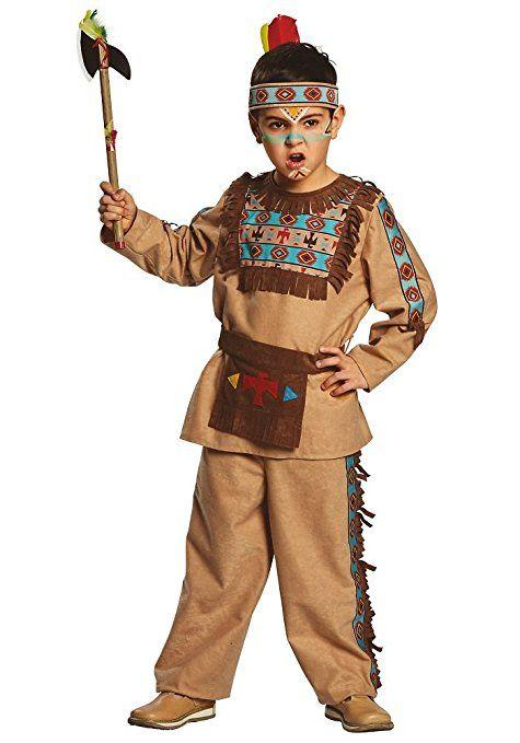 Indianer Barry Gr 104 152 Jungen Kostum Apache Braun