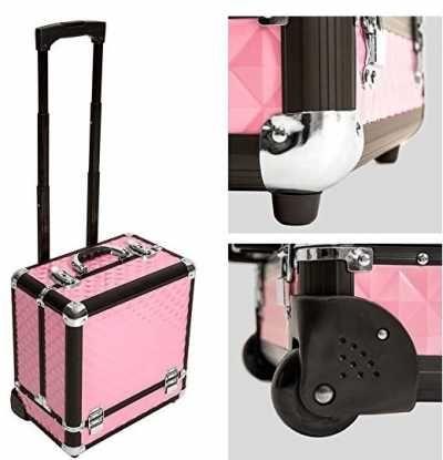 Maleta para Cosmeticos Maletin para Maquillaje Ofertas especiales y promociones   Caracteristicas Del Producto: - Armazón estable de aluminio - Esqui