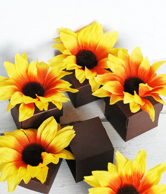 Sunflower Wedding Favor Ideas