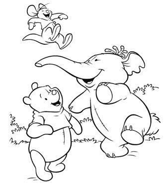 pooh heffalump coloring pages | 25 best images about Lumpy the Heffalump on Pinterest
