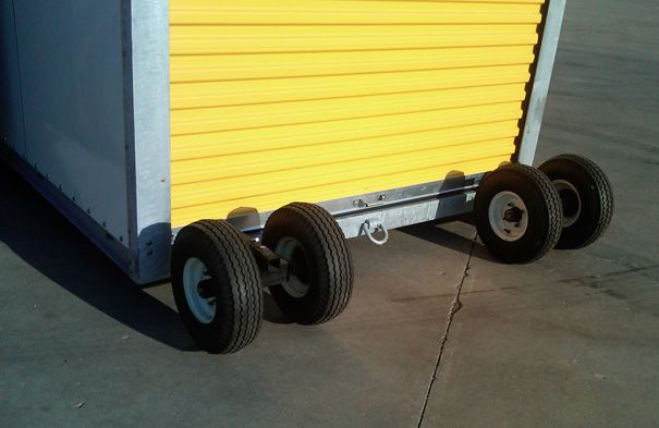 Removable Wheels Pneumatic Wheel Casters For Portable