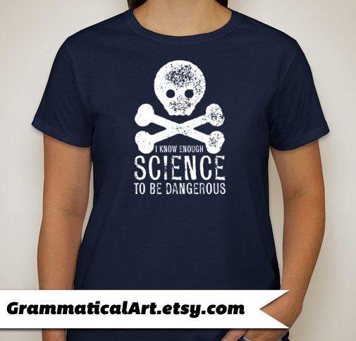 Typography Tshirt Science Tee Dangerous Ladies Tshirt Science Teacher Gifts for Teachers Science Shirt Tshirts Cool Funny T Shirt Women on Etsy, $18.00