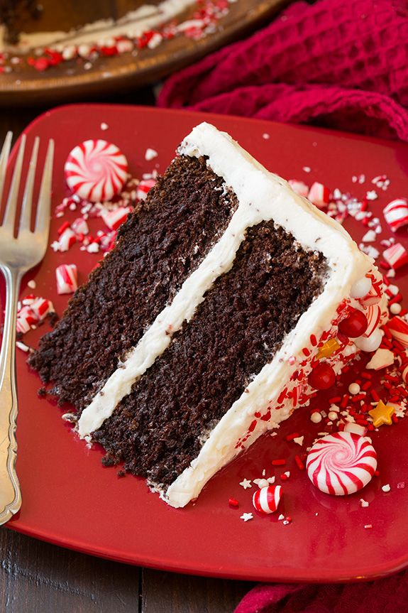 Peppermint Chocolate Cake with Peppermint Buttercream Frosting - Cooking Classy