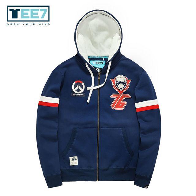 Limited Offer $35.14, Buy SizeM-3XL TEE7 MenWinter Hoodies Male Game OW Hoody Sweatshirt Men Cotton Brand Outerwear Overcoat Men Hip Hop Fashion Parka