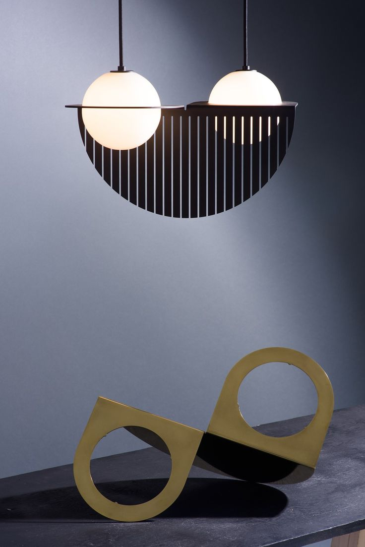 Pipe 3 led suspension lamp decor walther ambientedirect com - Laurent Opalescent Glass Spheres With Bold Lines Lambert Fils Reinterprets The Classic Globe Pendant Lamp
