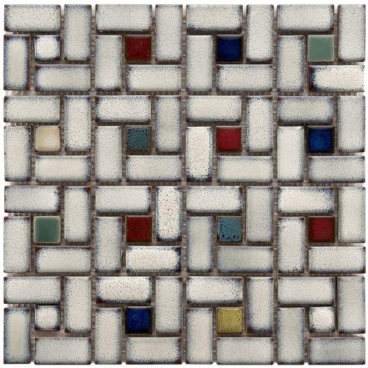 You Ll Love The Essentia 12 Amp Quot X 12 Amp Quot Porcelain Mosaic Tile In Glazed Cascade At Wayfa Mosaic Flooring Ceramic Mosaic Tile Porcelain Mosaic Tile