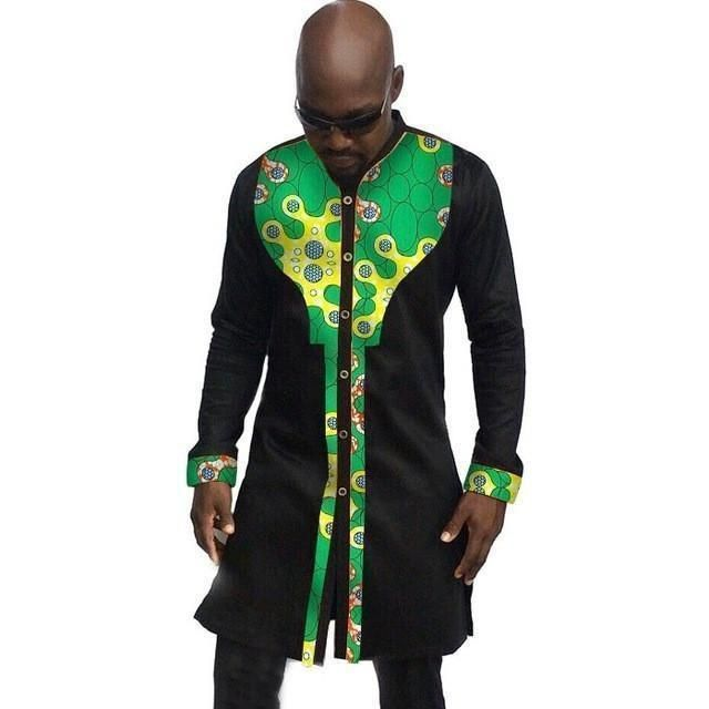 African Mens Shirts, Fashion Kitenge Dashiki Shirt, Men African Clothing