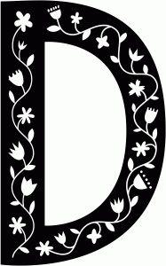 Silhouette Design Store - View Design #68987: scandinavian folk decorative monogram d