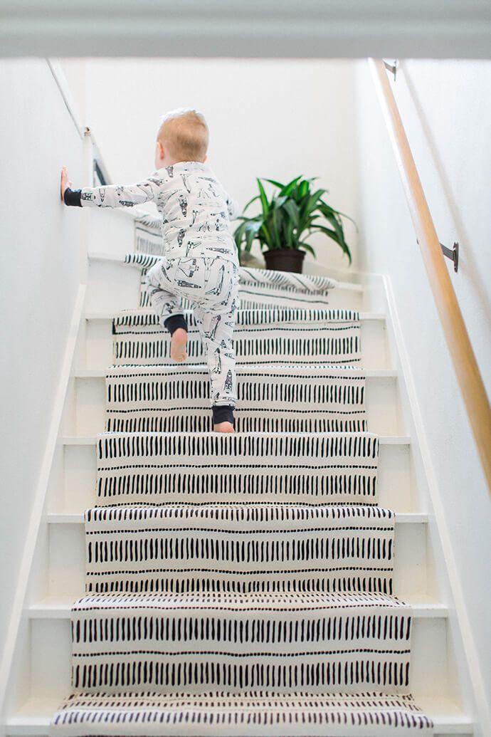 Geometric stair runner. Monochrome, minimalistic. #scandinavian