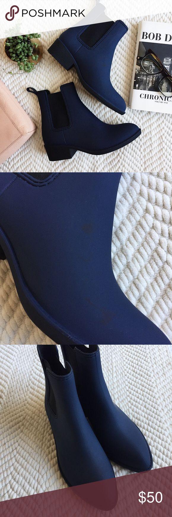 Jeffrey Campbell navy rain boots