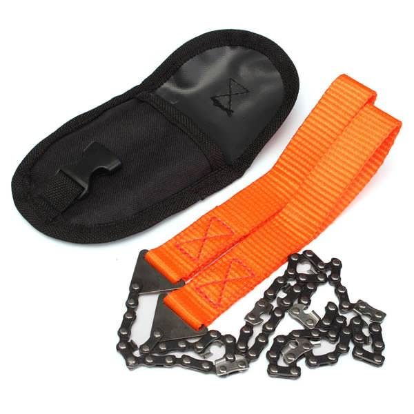 Description : This is a pocketable hand chain saw. It is an essential survival tool for camping, hiking, backpacking and all other outdoor sports. It is also a good tool for home and garden use. Cut wood quickly and easily. Great survival tool for cutting wood to make fire or shelter in an...
