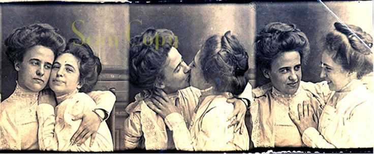 1890's Lesbian Kiss Victorian Love Seduction Gay by worldwidefoto on Etsy https://www.etsy.com/listing/171842822/1890s-lesbian-kiss-victorian-love