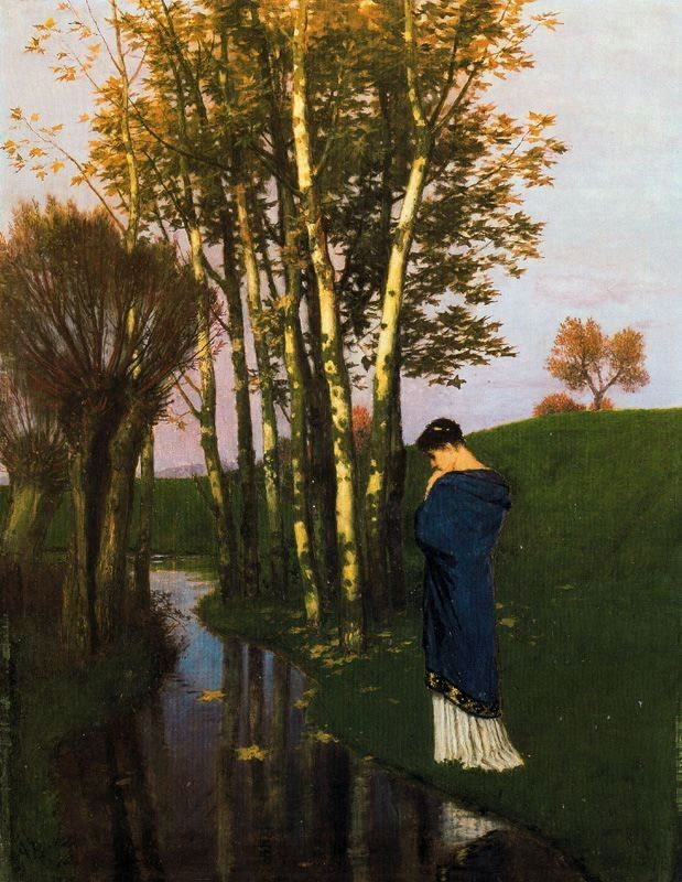 """Pensées d'automne"" by Arnold Bocklin"
