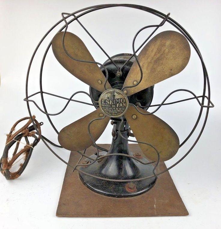 Antique Eskimo Model 20 Fan AC Or DC Needs Rewiring 10.25