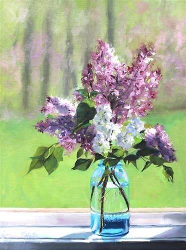 """Lilacs"" - Original Fine Art for Sale - © Maureen Killaby"