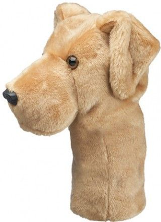 This adorable Yellow Lab Golf Head Cover is a design by Daphnes Head Covers that will add some character to your golf bag.
