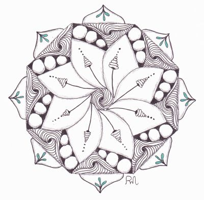 Tangle Madness: Zendala Dare #53