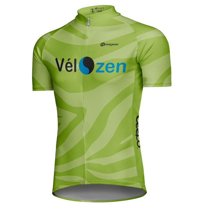 Cycling jersey - Designed and made by Apogee Sports.   Client : Vélo-Zen