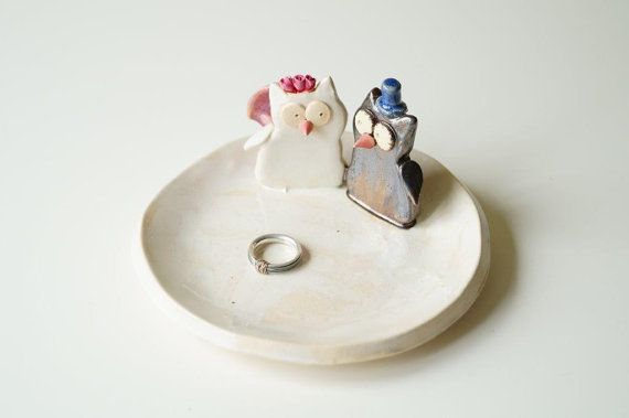 Wedding Ring Holder Engagement Ring Bowl Wedding by HerMoments