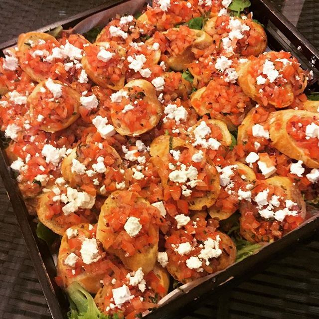 Bruschetta is a great starter and a delicious snack. Topped with some very tasty feta and served fresh from the oven. #sydney #2delicious4words #bruschetta