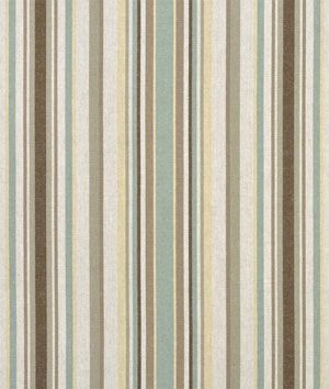 Swavelle / Mill Creek Baker Street Mineral Fabric - $24.55 | onlinefabricstore.net  Stripes make beautiful slipcovers for unwanted piece of furniture Gorgeous