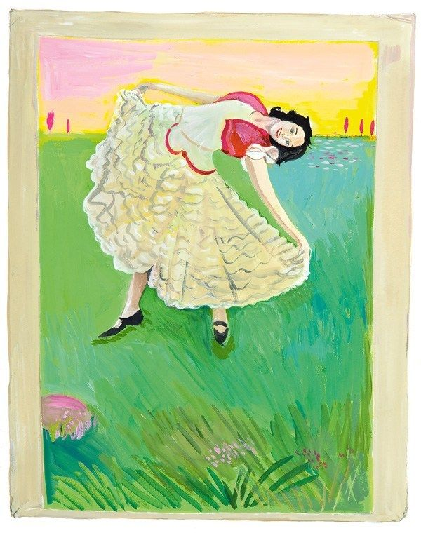 Girls Standing On Lawns A Quirky Collaboration Between Maira Kalman Daniel Handler And Moma Maira Kalman Girl Standing Maira
