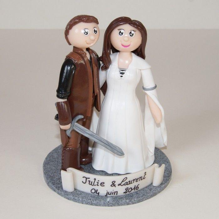 Wedding cake topper / figurines de mariage personnalisées / fantastique / L'Epée de vérité / mariage / flo et merveilles