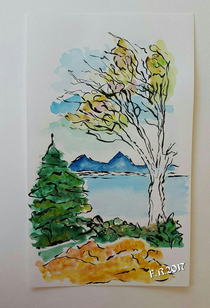 My Inspired Watercolor by Francesca Rocchi - Acquerello ispirato di Francesca Rocchi