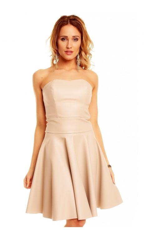 robe de cocktail robe bustier courte beige chic tm 5106 nouveaut s robes bustier pinterest. Black Bedroom Furniture Sets. Home Design Ideas