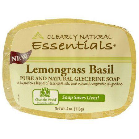 Clearly Natural Soap, Glycerine, Lemongrass Basil