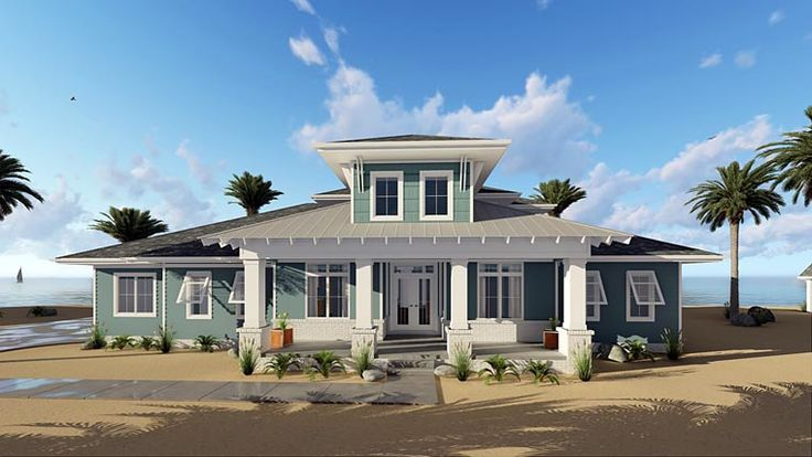 House Plan 44183 | Florida Southern Southwest Plan with 2526 Sq. Ft., 4 Bedrooms, 3 Bathrooms, 3 Car Garage