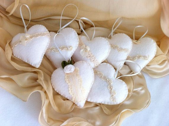 Wedding Heart Sachets Favors 25 Vintage By LollysCubbyhole 7500
