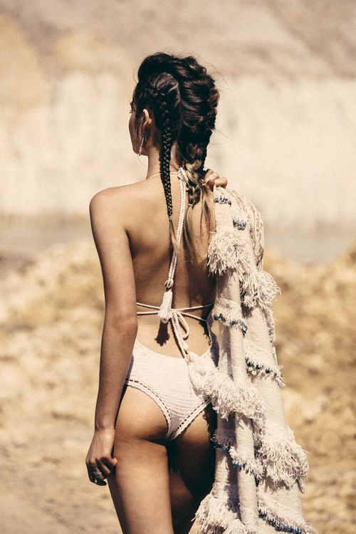 Boho swimming costume