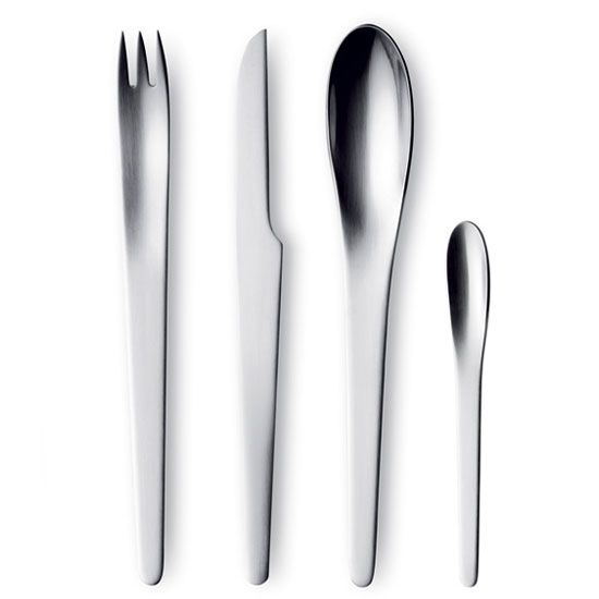 Arne Jacobsen Cutlery 24 Pieces, Matt, Georg Jensen