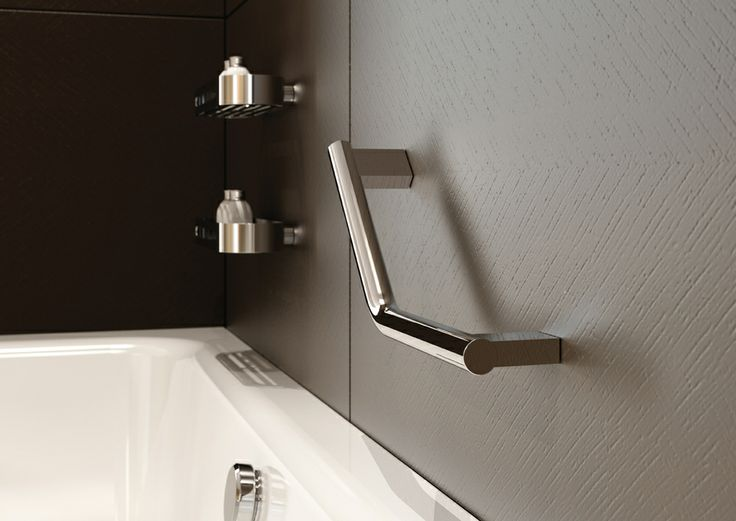 Image of Lux Angled Bathroom Grab Rail
