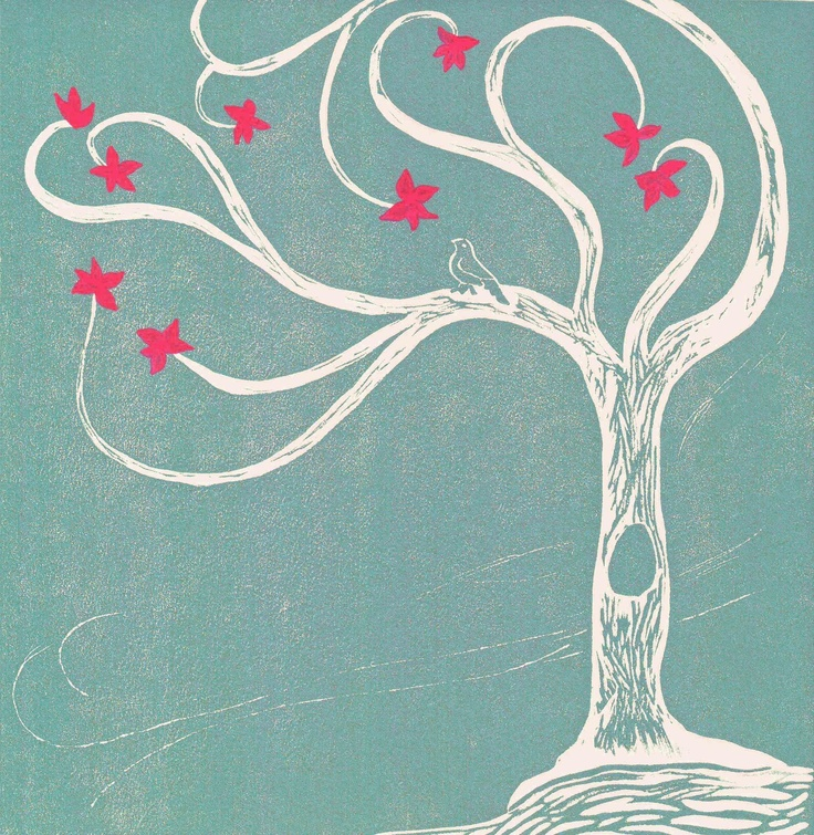 17 Best Images About Linoleum Block On Pinterest Trees