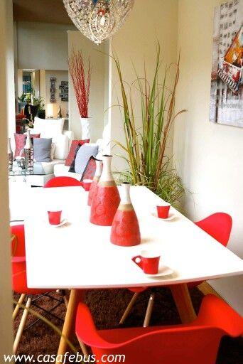 el poder del rojo casa febus casa febus home decor pinterest. Black Bedroom Furniture Sets. Home Design Ideas
